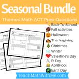 ACT Math - BUNDLE Seasonal Themed Worksheets for Math ACT Prep
