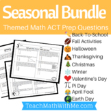 ACT Math - BUNDLE Seasonal Themed Worksheets for Math ACT Prep