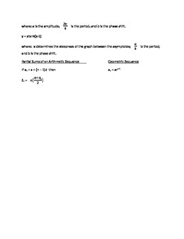 ACT Math Commonly Used Formulas
