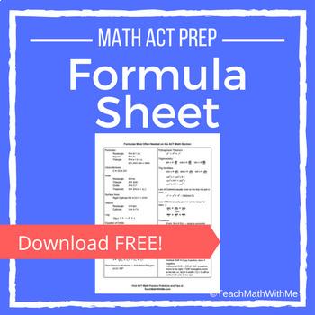 ACT Math Formulas Sheet