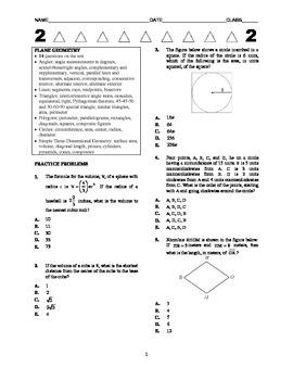 ACT Math Kickstarter - Plane Geometry