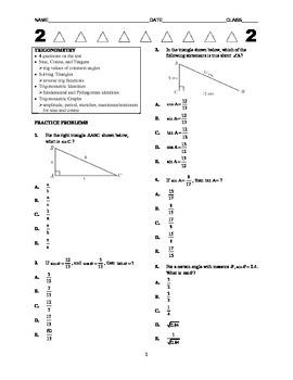 ACT Math Kickstarter - Trigonometry