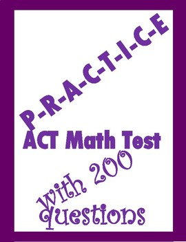 ACT Math Test-200 Questions