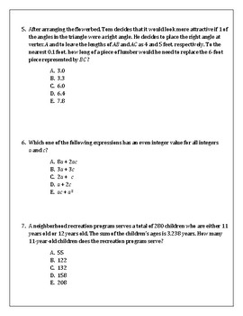 ACT Math Practice Test-Edition 2