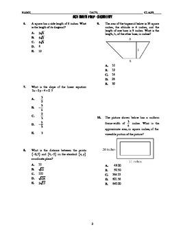 ACT Math Prep - Geometry