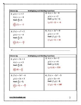 ACT Math Prep: Multiplying and Dividing Functions