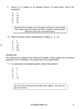 ACT Math Prep Workbook - Over 170 Questions/Answers + Tips & Strategies