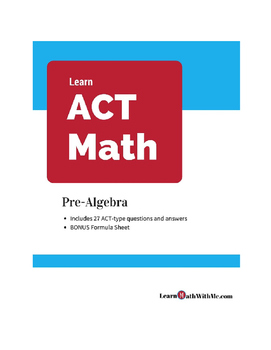 ACT Math Prep - Pre-Algebra Questions and Answers Set