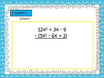 ACT Math Prep: Subtracting Polynomials