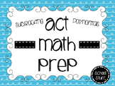 ACT Math Prep: Subtracting Polynomials