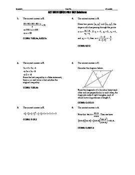 ACT Math Quick Prep 001-005