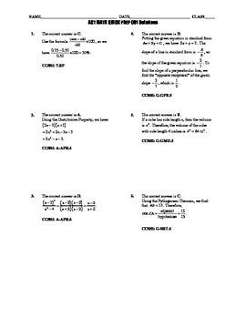 ACT Math Quick Prep 001