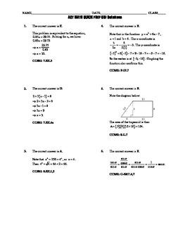 ACT Math Quick Prep 006-010