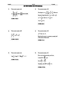 ACT Math Quick Prep 016-020