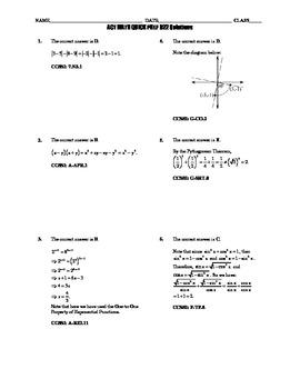 ACT Math Quick Prep 021-025