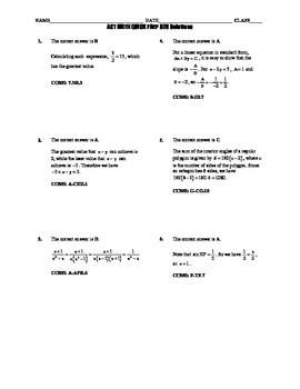 ACT Math Quick Prep 026-030