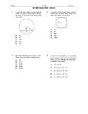 ACT Math Quick Prep - Circles