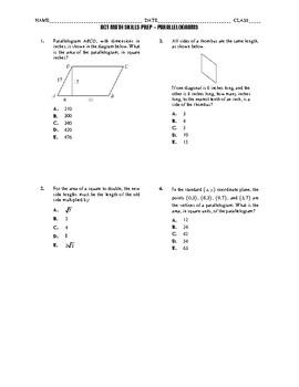 ACT Math Quick Prep - Parallelograms