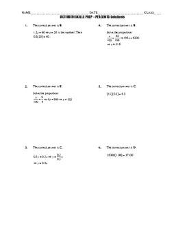 ACT Math Quick Prep - Percents