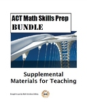 ACT Math Skills Prep BUNDLE