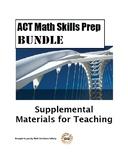 ACT Math Skills Prep BUNDLE