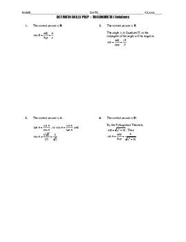 ACT Math Quick Prep - Trigonometry