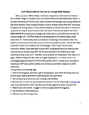 ACT Math Study Guide for Low to Average Math Students