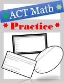 ACT Practice Math Test