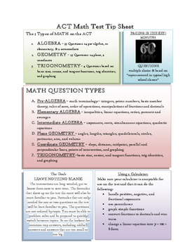 ACT Math Tip Sheet