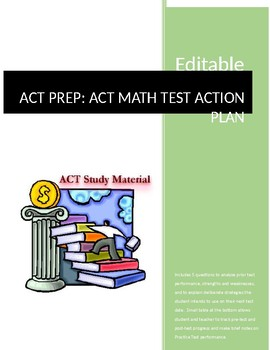 ACT PREP Action Plan Assignment for ACT Math Test