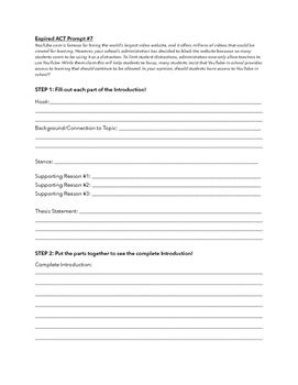 ACT Persuasive Writing Practice DAY 2