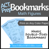 ACT Prep Bookmark - Math Figures for the ACT