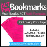 ACT Prep Bookmark - Math Formulas for the ACT