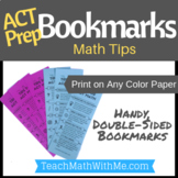 ACT Prep Bookmark - Math Tips for the ACT