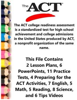 ACT Prep College Entrance Exam Teacher Supplemental Resources Fun Engaging