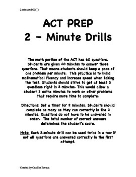 ACT Prep Math 2-Minute Drill