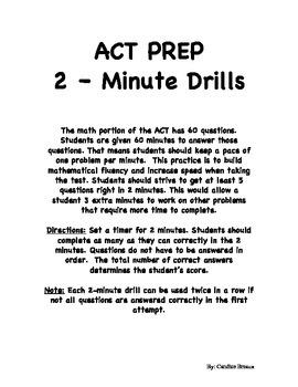 ACT Prep Math 2-Minute Drills Pack