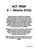 ACT Prep Math 2-Minute Drills Pack