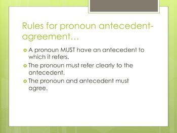 ACT Prep Pronoun-Antecedent Agreement PowerPoint