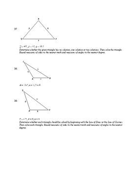 ACT Prep Trigonometry Packet #1