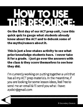 ACT Prep: What Do You Know About The ACT?