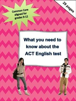 ACT (English) breakdown, strategies, & tips