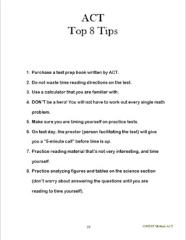 ACT Quick and Easy Guide