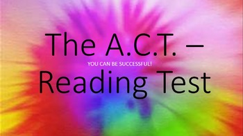 ACT READING Strategy Powerpoints