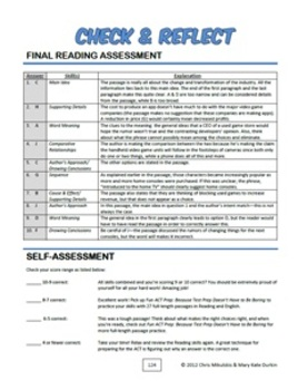 Fun ACT Prep Reading: Final Assessment ACT-Style Passage, Combined Skills