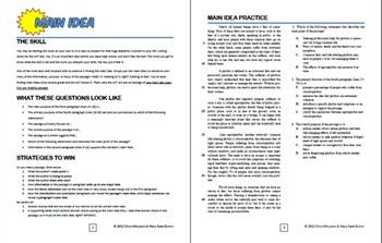 Fun ACT Reading Prep: Main Idea Skill-by-Skill Practice