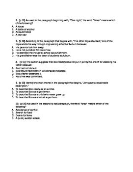 ACT Reading Practice Using Literature / SAT CCR Tests