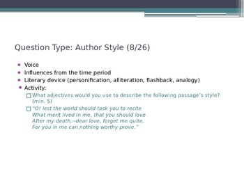 ACT Reading Question Type Introduction with Activities!
