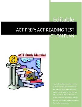 ACT Reading Test ACT Prep Action Plan Assignment