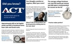 ACT Reading Test:  Did You Know?  Research Based Advice fo